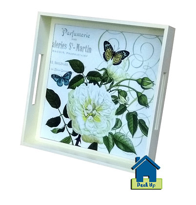 Serving Tray - Charlie's White Peony