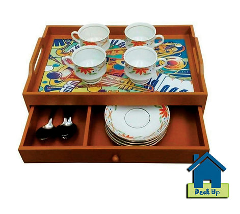 Drawer Tray - Fiery Fiesta - Two Compartment