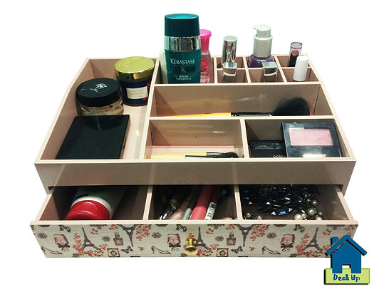 Make Up Organizer-French Connection - Beige