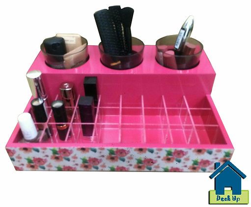 Make Up Organizer - Blossoms - Pink