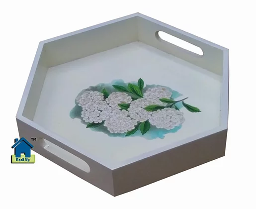 Hexagonal Tray - Blossom