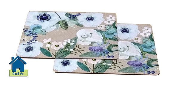Trivet/Mats - Floral Water Colors