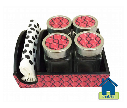 Jar Sets - Patterned Rouge
