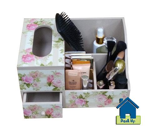 Make Up Organizer-Floral Stripes