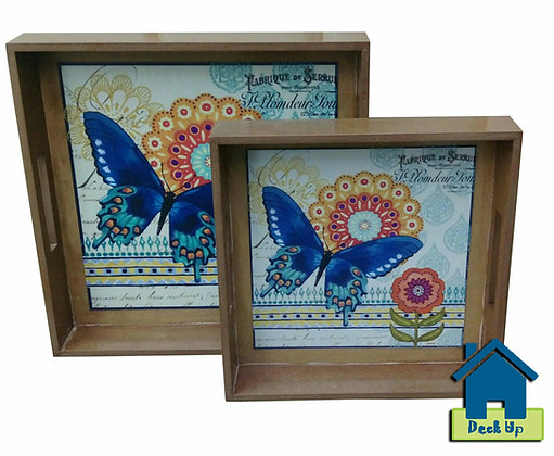 Serving Trays - Vibrant Butterfly