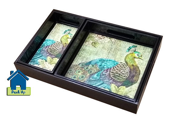 Serving Tray - Peacock Dance