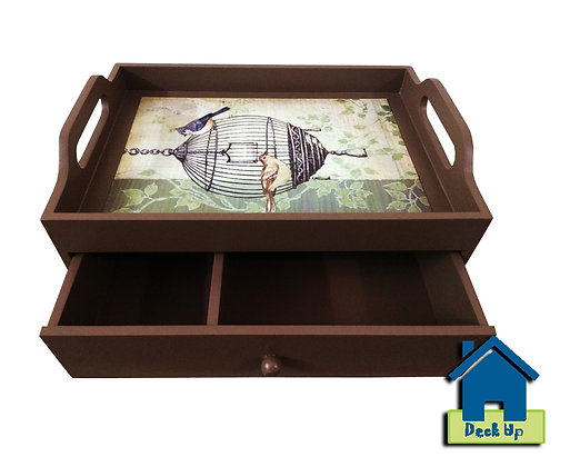Drawer Tray - Bird Cage - Two Compartment