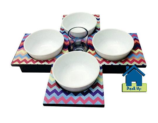 Platter - Multicolored Chevron
