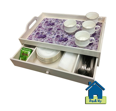 Drawer Tray - Purple Power - Three Compartment