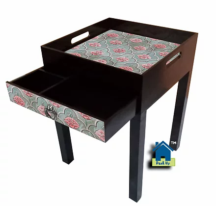 Side Table - Moroccan Floral Olive