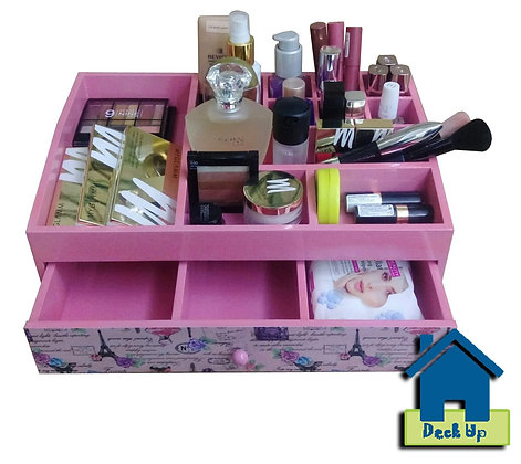 Make Up Organizer - French Connection - Chic Pink