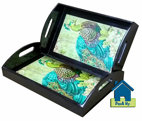 Serving Tray -Peacock Dance