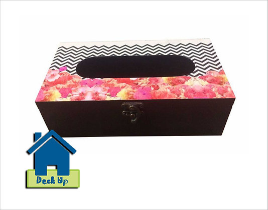Tissue Box - Chevron Blooms