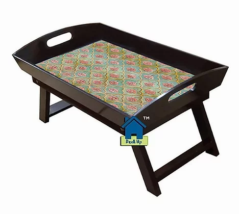 Foldable Bed Table - Moroccan Floral Green