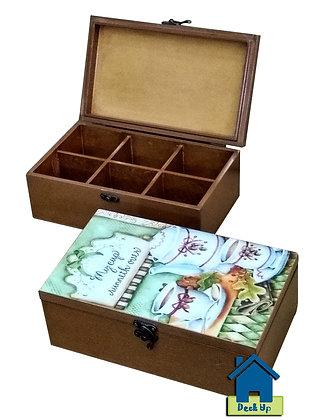 Tea Bag Box - My Cup Runneth Over