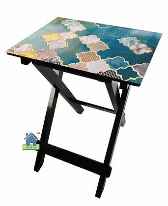 Collapsible Table - Moroccan Aqua Hues