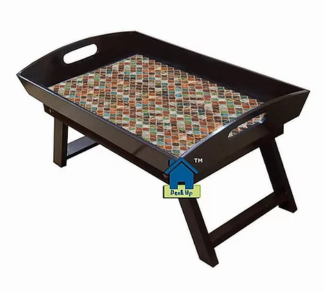 Foldable Bed Table - Earthy Tones
