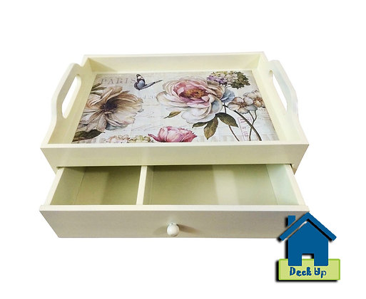 Drawer Tray - Fleurs - Two Compartment