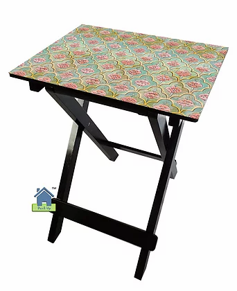 Collapsible Table - Moroccan Floral Green