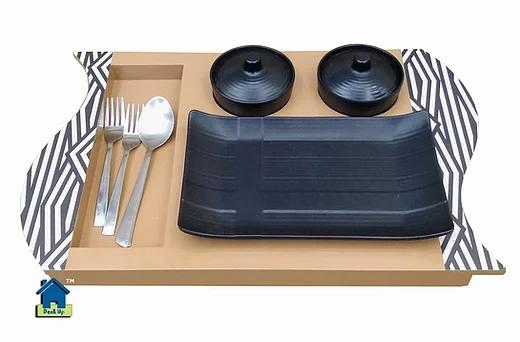 Platter - Striped Beige