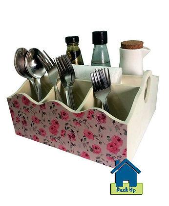 Cutlery Organizer - Pink Bloom