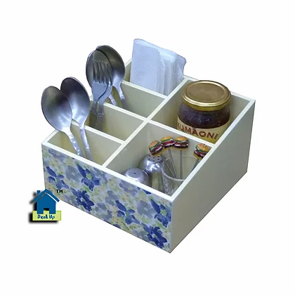 Cutlery Holder/Multi Utility Organizer - Water Colour Bloom