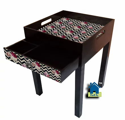 Side Table - Chevron Floral