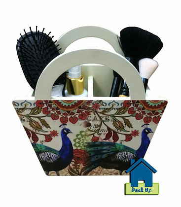 Comb Stand - Vintage Peacock