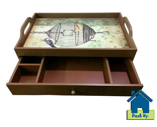 Drawer Tray - Bird Cage - Three Compartment