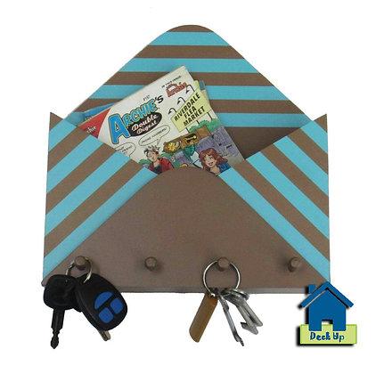 Key Holder - Turquoise Stripes