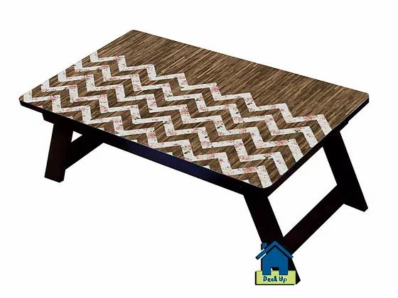 Foldable Bed Table - Chevron Wood Finish