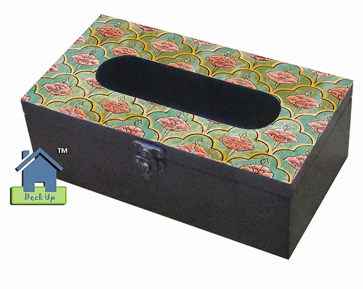 Tissue Box - Moroccan Floral Olive
