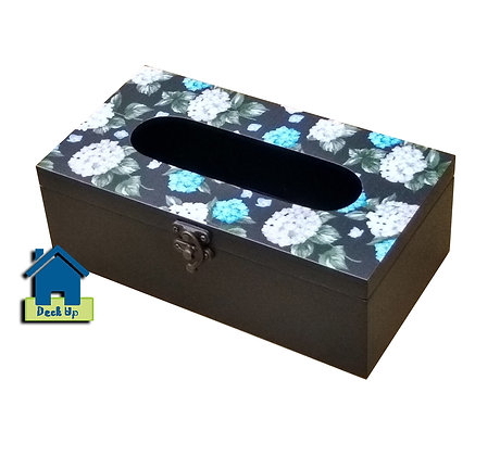 Tissue Box - Blue Fluff