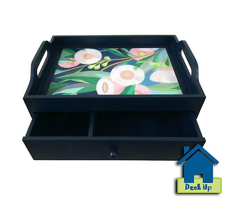 Drawer Tray - Blue Bloom - Two Compartment