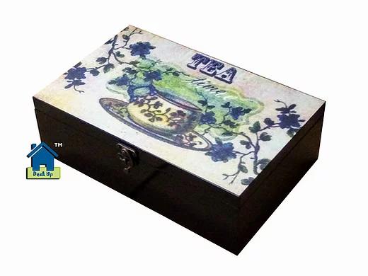 Tea Bag Box - 4 Compartment