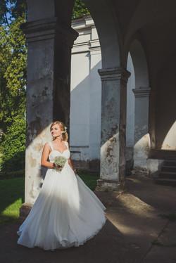 Vestuvių fotosesija dvare
