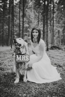 Fotosesija su šuniuku