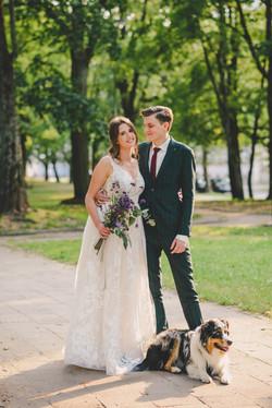 Vestuvių fotosesija su augintiniu