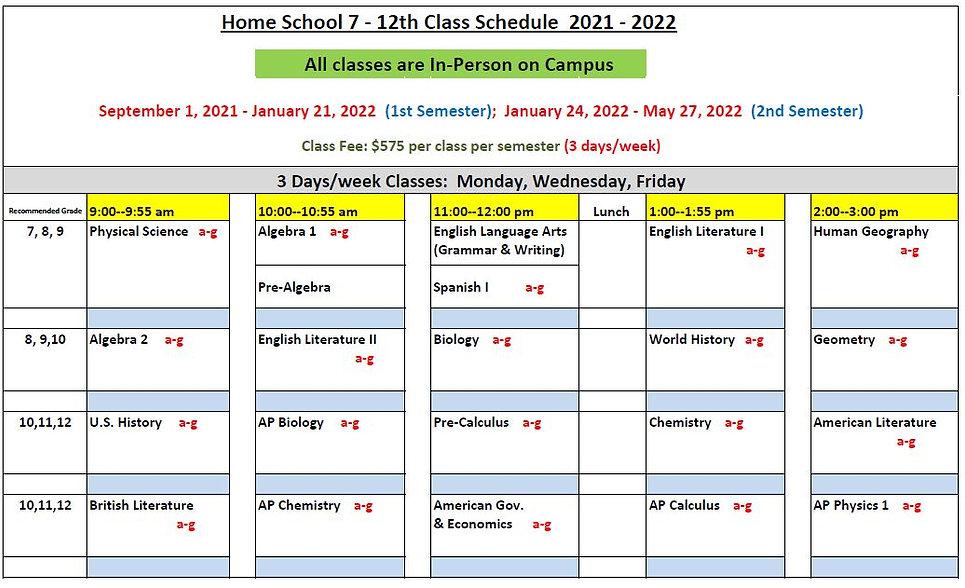 Home School 7-12th Class Schedule 2021-2022.JPG