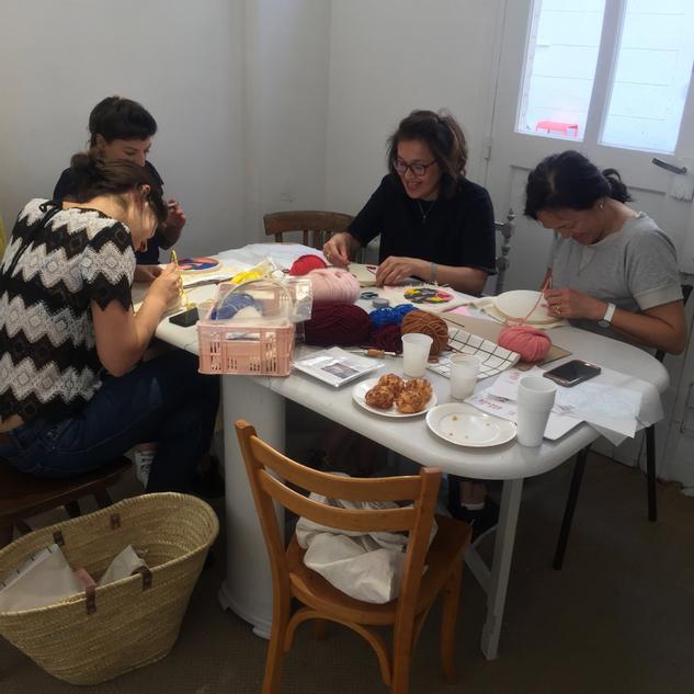 Atelier Punch needle avec Laurie Lecou