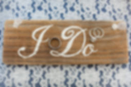 I Do Rustic Wedding Sign, Simply Chic Events