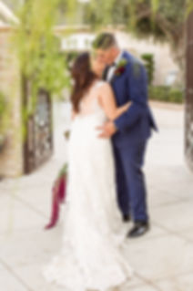 Bride kissing groom, Simply Chic Events