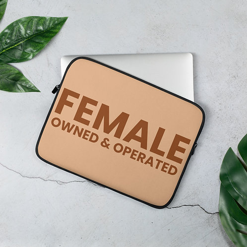 FEMALE OWNED AND OPERATED LAPTOP SLEEVE