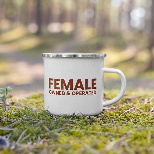 FEMALE OWNED AND OPERATED MUG