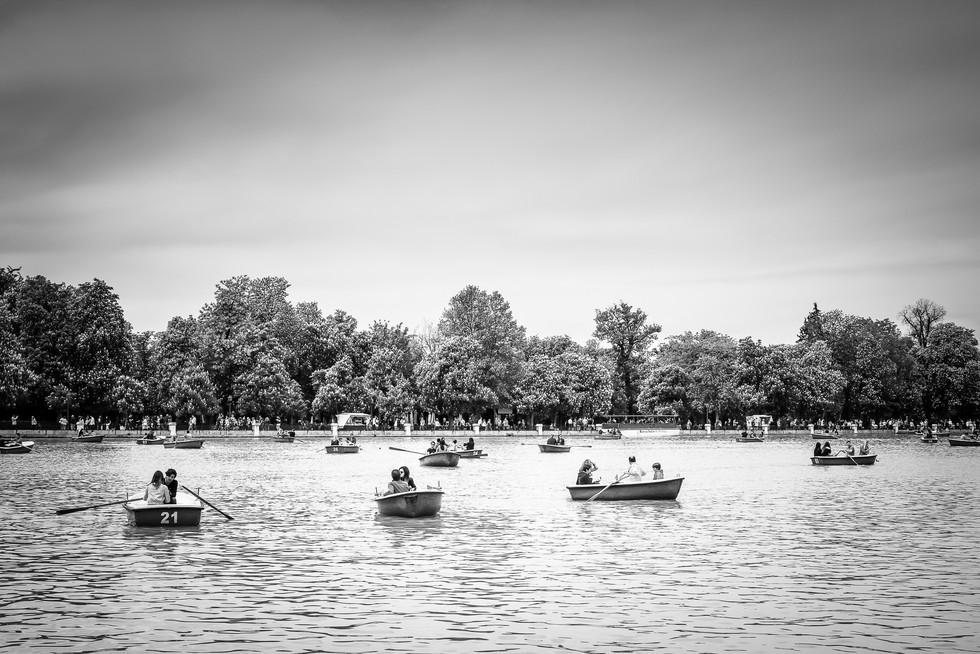 Las barcas en el Retiro