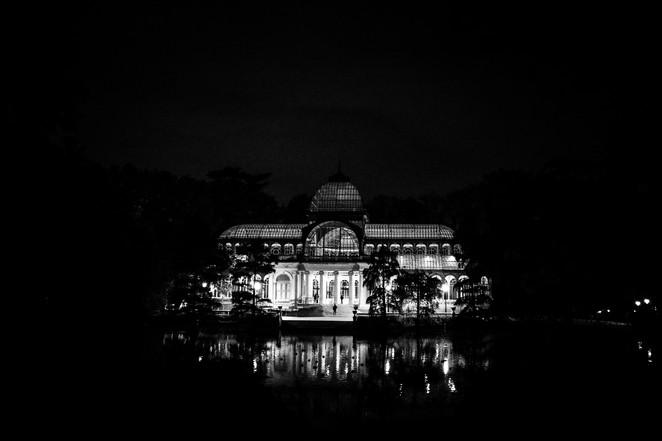 Nocturno en el Palacio de Cristal, Madrid