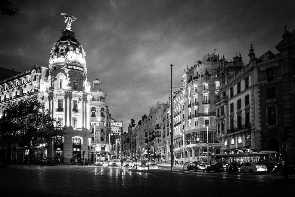 Nocturno en Alcalá, Madrid