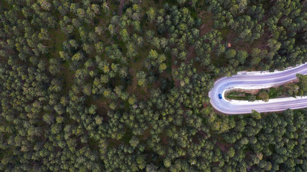 Una curva de la carretera, Madrid