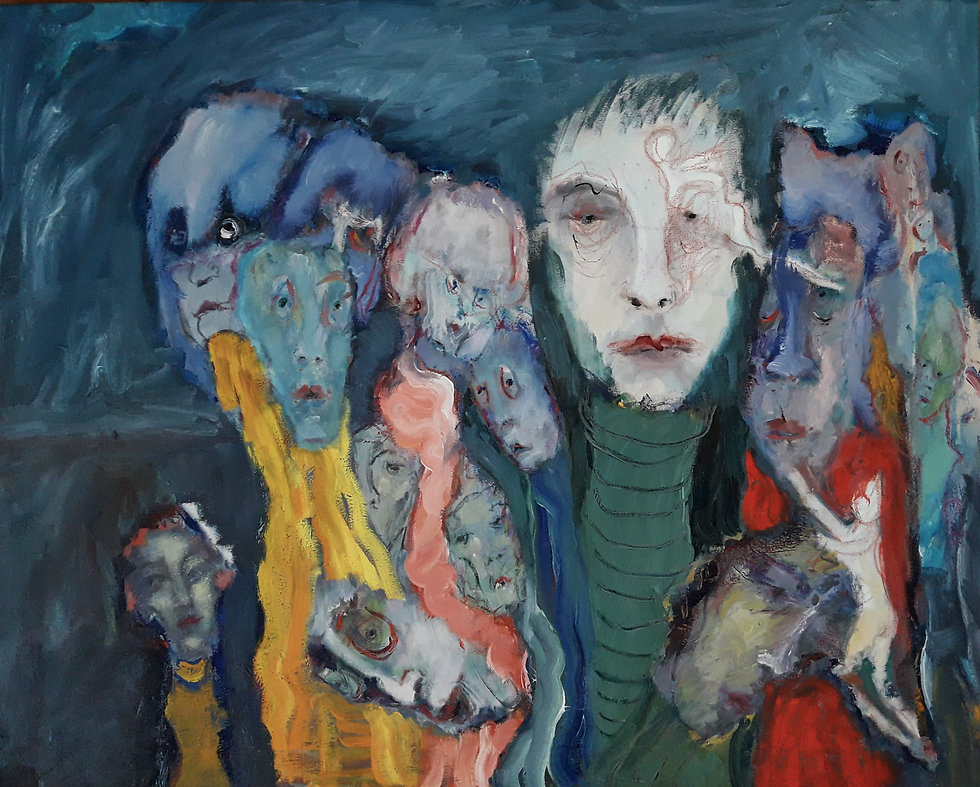 12 I think everyone went crazy 2020 , oil on canvas, 100.80.2cm, Value 1100 euros..jpg