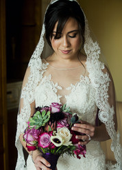 A beautiful bride is ready to get married